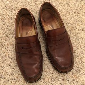 Johnston & Murphy Brown Leather Loafers, size 8.5